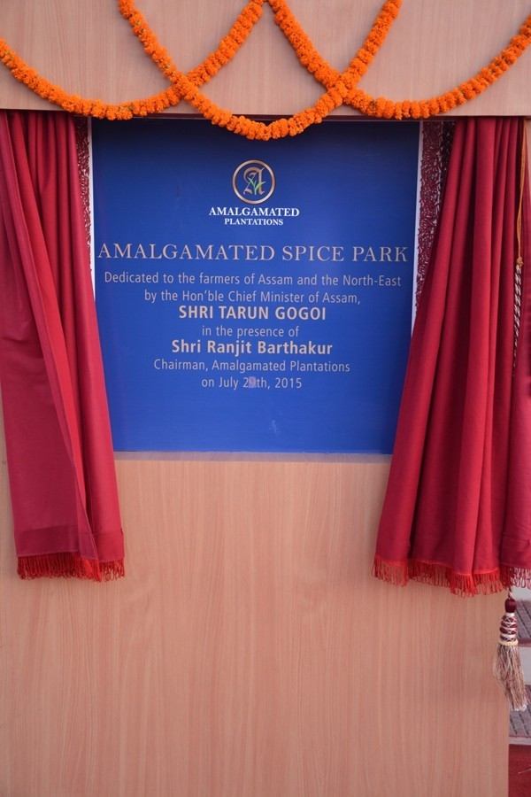 Chief Minister of Assam, Shri Tarun Gogoi, inaugurates Amalgamated Spice Park