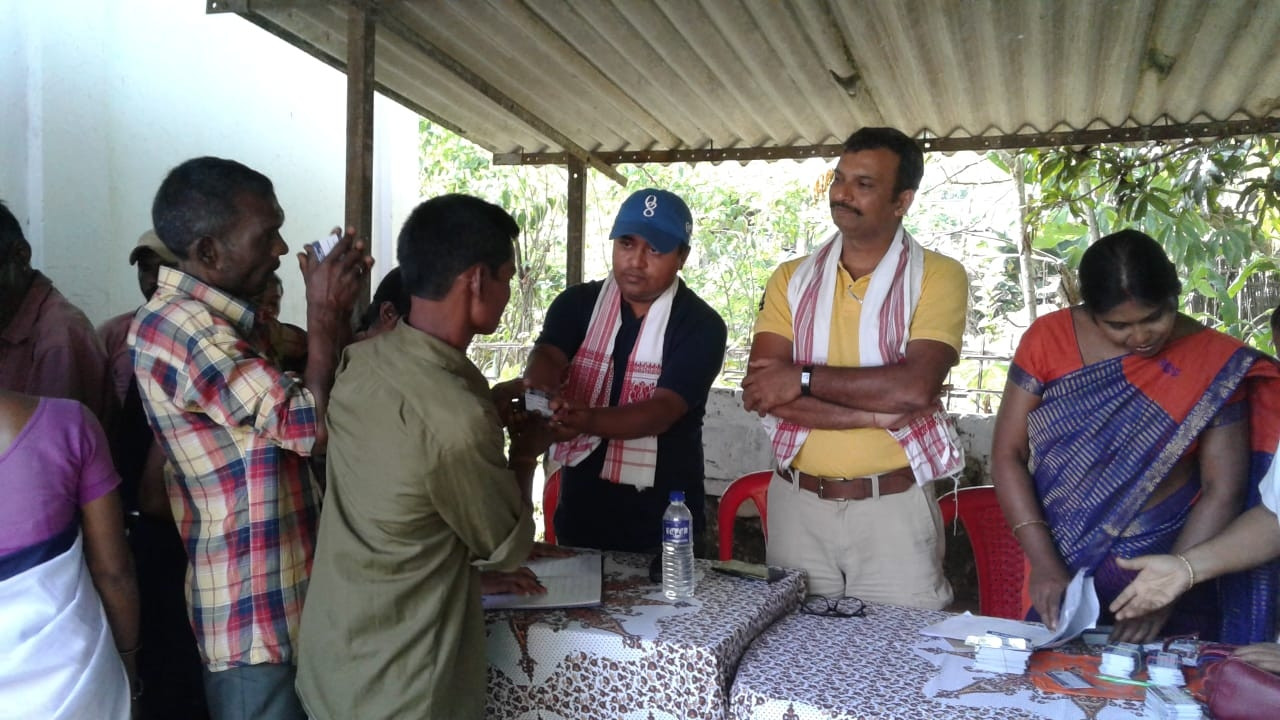 Distribution of Health Cards at Lamabari TE