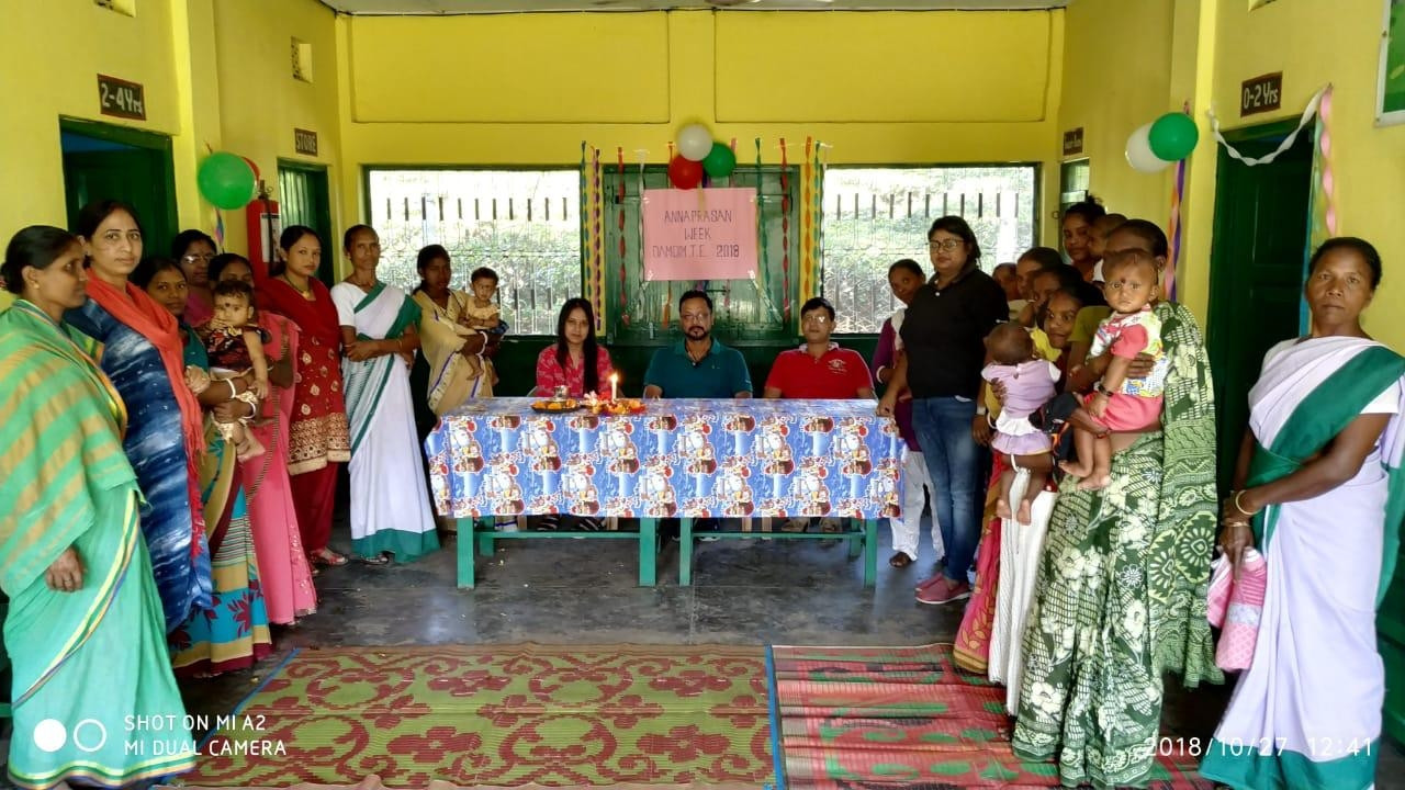 Community Annaprasanna at Damdim TE