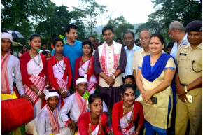 With Jhumer Dance Team and Mr. Kakati, SDO Bokakhat and ASP Golaghata
