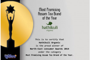 Most Promising Assam Tea Brand of the year Hathikuli Organic